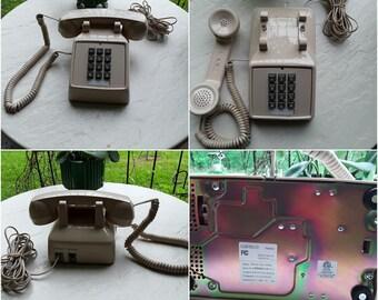 4 CORTELCO Beige Touch Tone Desktop Telephone Vintage Four phones