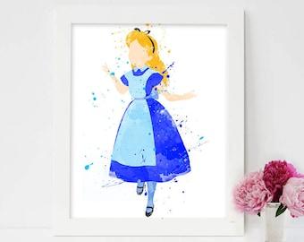 Alice in Wonderland, alice in wonderland queen of hearts, disney alice in wonderland, Alice in Wonderland Watercolor,alice in wonderland art