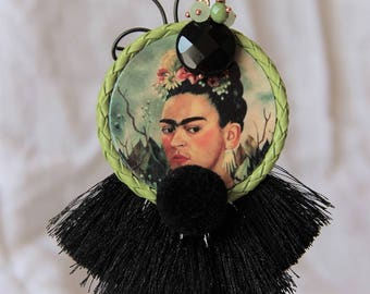 Black earrings Frida Kahlo