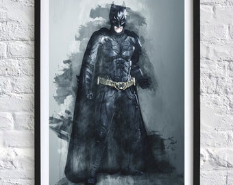 The Dark Knight Batman 'Watercolor' A4 Print