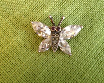 Sterling Silver Marcasite Butterfly
