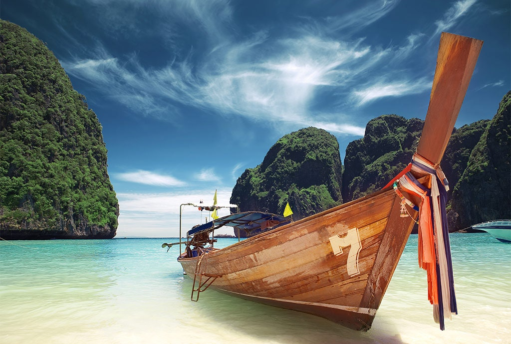 Boat On The Beach Wall Sticker, Photo Wall Mural, Peel And Stick, Wall Part 98