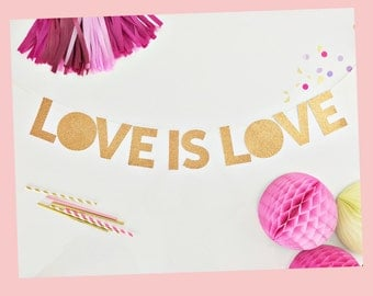 Love Is Love | Pride | Gay Pride Party Banner