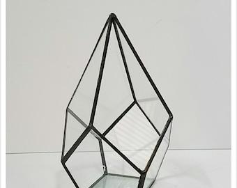 ES Glass Terrarium/mini Greenhouse/ Tabletop Succulent Planter