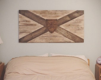 Wooden Nova Scotia Flag