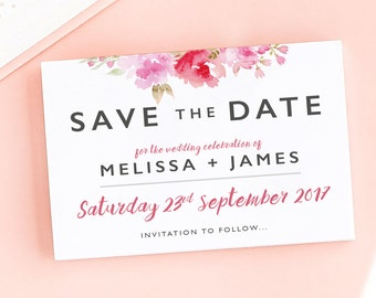 Rosey Posey Save the Date/Wedding Announcement Cards