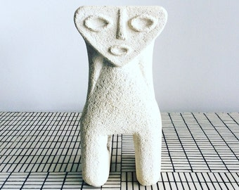 Vintage stone figure lamp by A. Tormos
