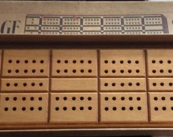 Horn Wood Cribbage Board