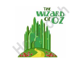 The Wizard of Oz Emerald City - machine embroidery design