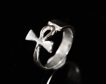 Egyptian Cross Ankh Ring in Sterling Silver