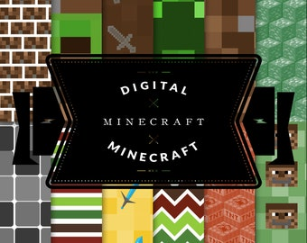 Minecraft Digital Printable Paper