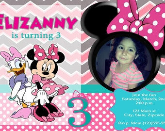 Minnie Mouse and Daisy Invitation