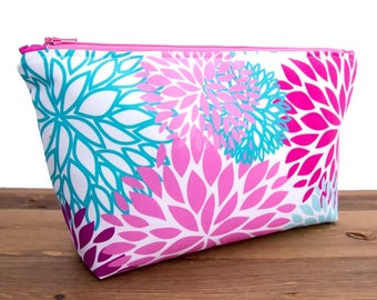 Floral Makeup Bag Set - Large Cosmetic Bag Set - Cosmetic Pouch - Makeup Storage Gift - Cosmetic Organizer - Best Makeup Bags - Wash Bag #55