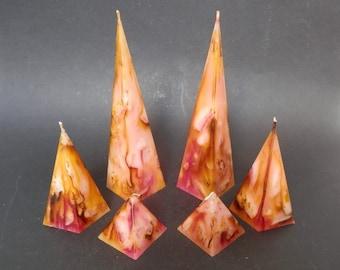 Pyramid Candles, Handmade Candles, Decorative candles