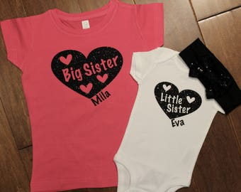 Big Sister shirt, little sister shirt, Big Sister, Little sister shirt set. Big Brother, Little Sister, Big Brother, Little Sister