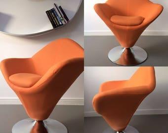Retro Vintage Funky Design Modern Orange Chair Armchair