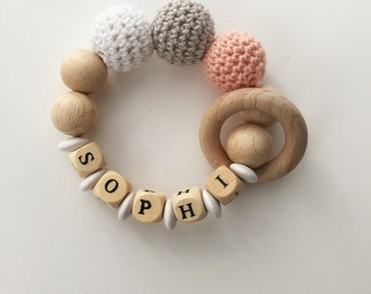 Personalized with gripping ring crochet beads
