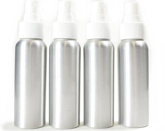 4 Pack Aluminum Fine Mist Spray Bottles 2.7oz (80ml)