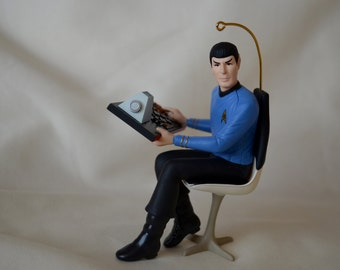Handcrafted ~ Stardated 1996 Hallmark Keepsake Ornament - Star Trek - Mr. Spock