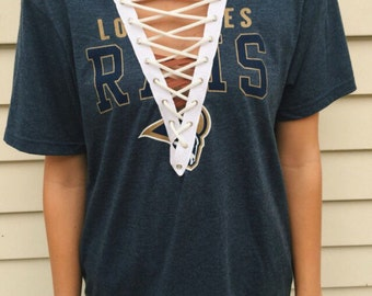 Los Angeles Rams NFL Lace Up T shirt