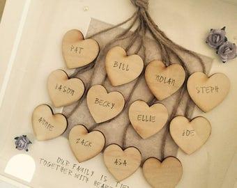 heart strings family frame