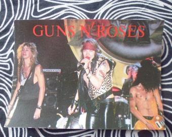 Guns&Roses vtg postcard 80's vgc