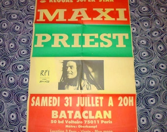 1992 maxi Priest Paris concert poster