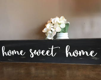 Home sweet home sign / Rustic Signs / home sweet home / Rustic home decor / home wood sign / housewarming gift / Rustic Distressed Sign