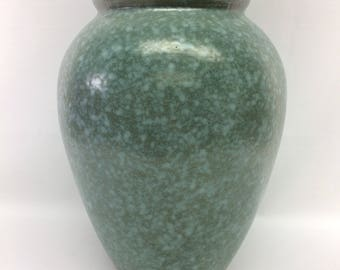 "Robinson Ransbottom Pottery Co. (R.R.P. Co.) 12"" Aqua Molted Oil Jar #139/"