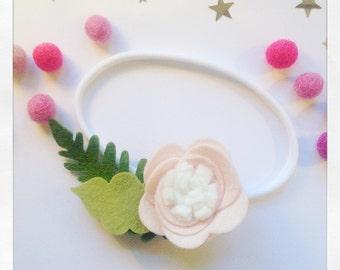 Large Flower Headband - Felt Headband - Flower Headband - Baby Headband - Newborn Headband - Baby Shower Gift - Festival Headband