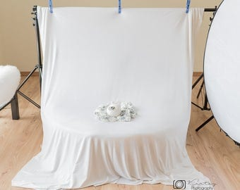 White Snow Backdrop,posing fabric, photography backdrop,bean bag cover, backdrop,fabric,photography props,sale,lot,ready to ship