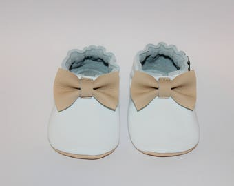 Handmade leather baby shoes -personalized baby shoes - genuine leather custom made shoes