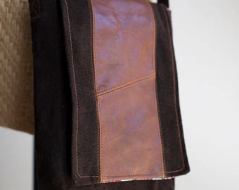 the Slim Satchel - Upcycled Suede