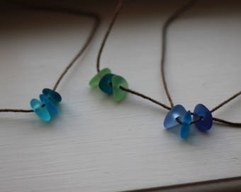 Sea glass choker necklace