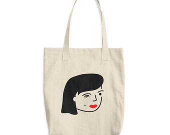 Bad Girl Cotton Tote Bag, Market Bag
