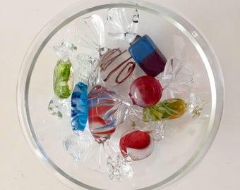 Murano glass sweets-candy handmade Venetian glass 7 glass candies