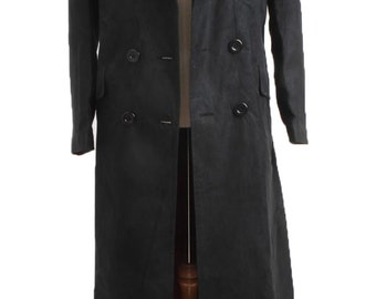 Dr. Brown Long Trench Coat Suit BLACK Cosplay Costumes