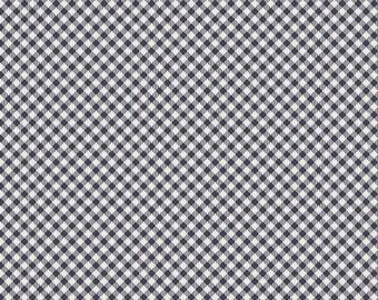1 yard Les Petits 100% quilt shop quality cotton, Petit Checks Midnight, At Gallery Fabric, Amy Sinibaldi