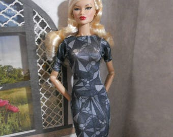 Short Sleeve Dress-LUXE COLLECTION-Fits 1/6 Scale Slim Fashion Dolls Like FR2, Nu Face, Francie, Poppy Parker, & Tulabelle Industry