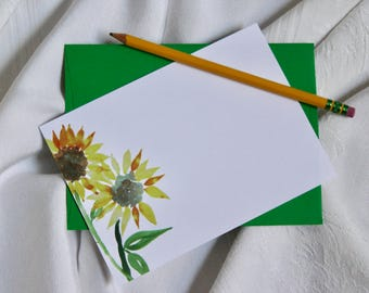 Boxed set of (50) BLANK Sunflower Note Cards