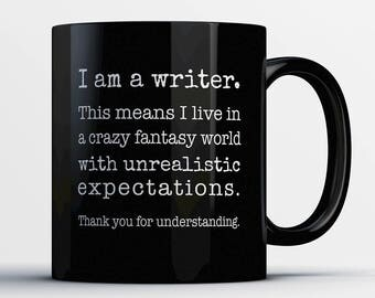 Writer Coffee Mug - I Am A Writer - Gift for Author - Writing Student Cup - Funny Writer Present - Best Writer Gift - English Literature -