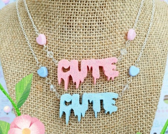 Fairy Kei Cute Kawaii Sparkly Necklace