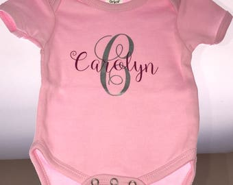 Name Monogram onesie