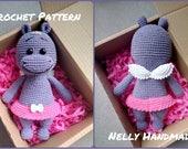 Crochet PATTERN: Hippo Princess Mika, Nelly Handmade, Amigurumi Toy