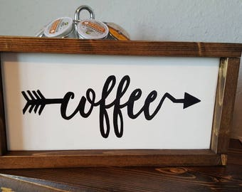 "Framed ""coffee"" sign"