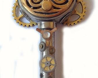 steampunk key lucky charm / Steampunk Schlüssel Glücksbringer