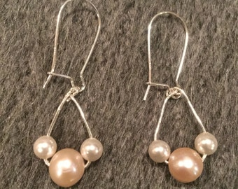 Swarovski and FreshWater Pearl Earrings