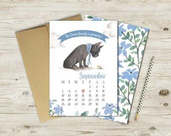 French Bulldog Pregnancy Announcement Printable Card