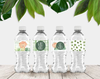 Jungle Printable Waterbottle / Bottle Covers