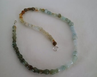 Jade Necklace in Unusual Shape